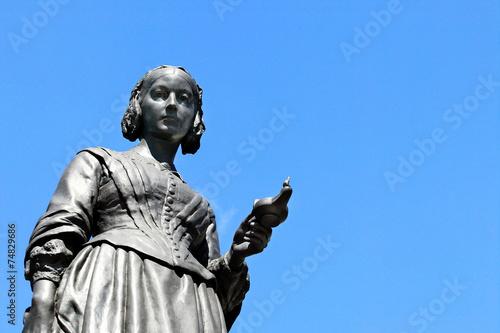 Deurstickers Standbeeld Florence Nightingale