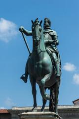 Equestrian monument to Grand Duke Ferdinando I by Giambologna, F