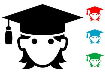Pictograma icono graduada con varios colores
