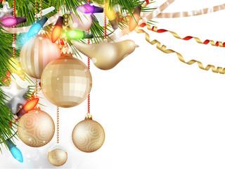 Delicate Christmas ornaments. EPS 10