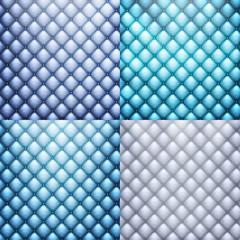 Blue leather, texture set. EPS 10