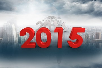 Composite image of 2015 red