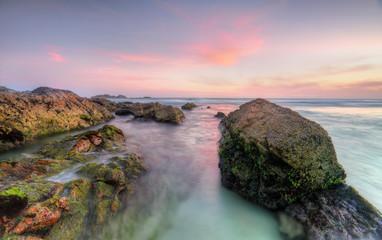Sugarloaf Point Rocks at sunset