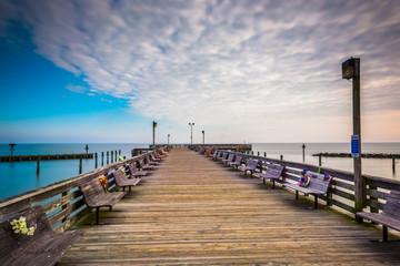 Long exposure taken on the pier in Chesapeake Beach, Maryland.