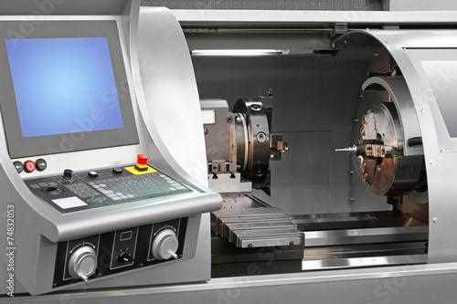 Leinwanddruck Bild Machining centre