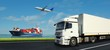 Logistics banner - 74832474