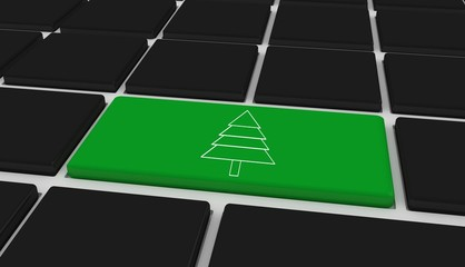 Composite image of fir tree
