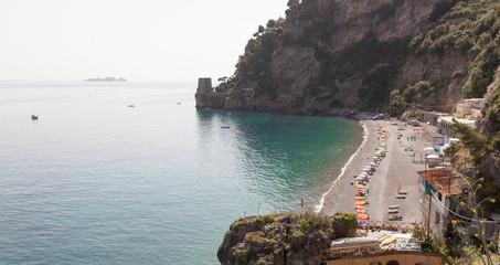 Spiaggia dei Sassolini, famous beach in Scauri, Italy