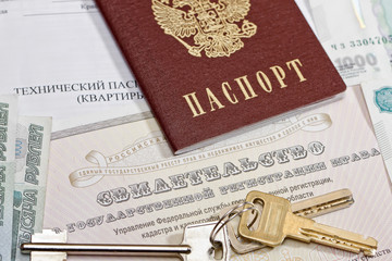 passport, keys and the certificate of ownership of the apartment