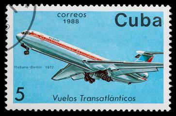 airplane in transatlantic flight