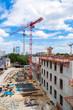 Aerial view building site of Berlin