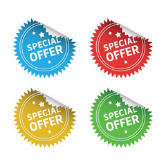 Special Offer Round Stickers