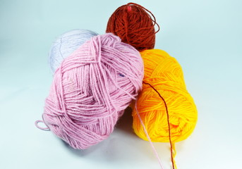 colorful knitting wool