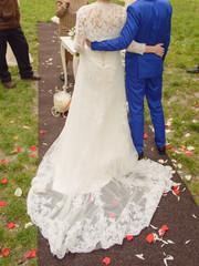 Embracing Newlyweds