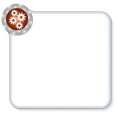 vector frame for any text and cogwheels
