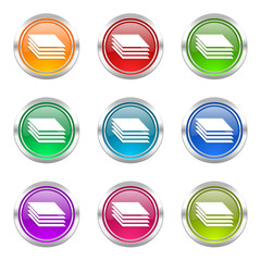 layers colorful vector icons set