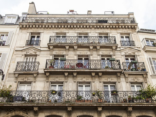 Paris, France. Typical urban view. Historical house