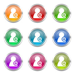 add colorful vector icons set