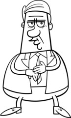 businessman cartoon coloring page
