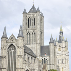 Saint Nicholas' Church and Belfry located in Ghent, Belgium