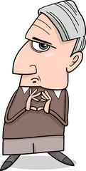 thinking man cartoon illustration