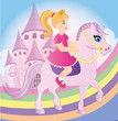 Princess riding horse