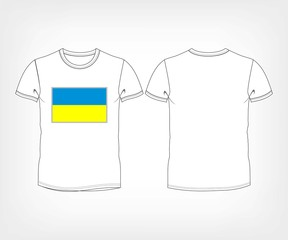 t-shirt with flag of Ukraine