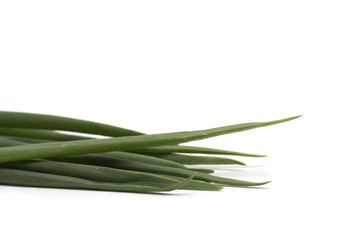 Pods of green onions. Photo. Background.