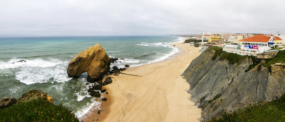 beach of Santa Cruz, located in Torres Vedras