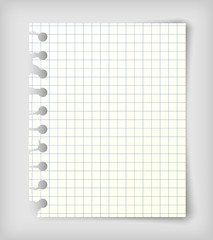 Small note paper sheet