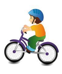 Boy riding a bicycle