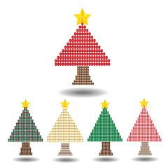 geometric christmas tree set