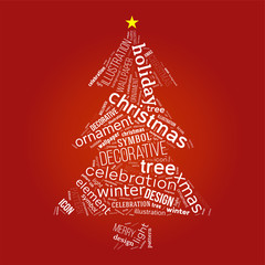 Christmas tree with words