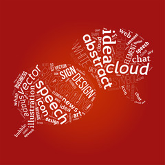 Cloud with words