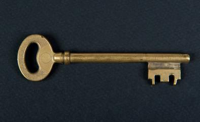 door key placed on black fabric