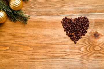 heart with coffee beans