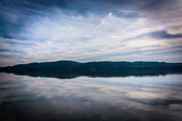 Reflections of clouds in the Susquehanna River, in Columbia, Pen
