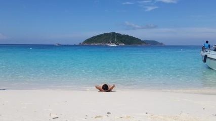 Relax on similan beach Thailand