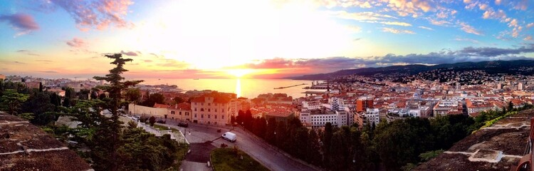 A beautiful cityscape view of Trieste -  Italy