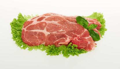 Nackenkotelett Schwein Fleisch