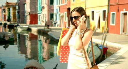 Shopping Bags Sale Travel Fashion Female Model Italy