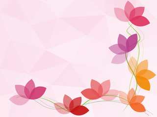 flower polygon abstract background