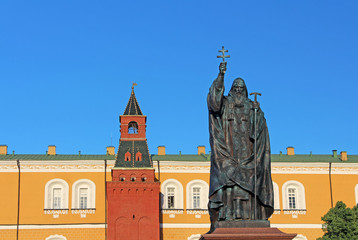 Monument to Patriarch Hermogenes in Moscow, Russia