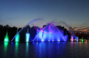Biggest fountain is located in the river Southern Buh, Vinnytsya