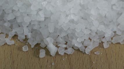 Sea salt. 4K UHD 2160p footage.