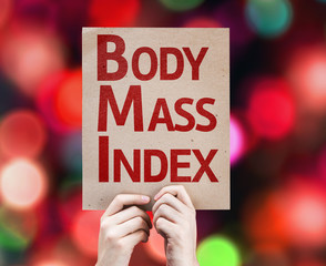 Body Mass Index card with colorful background