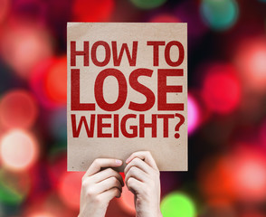 How To Lose Weight? card with colorful background