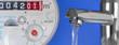Leinwanddruck Bild - Wasseruhr & Wasserhahn