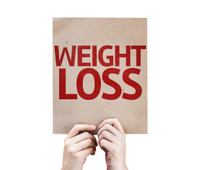 Weight Loss card isolated on white background