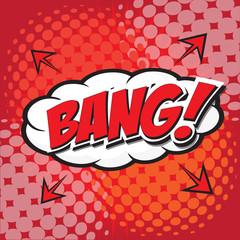 BANG! wording sound effect set design for comic background